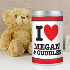 I HEART Teddy in a Tin